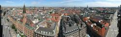 View of Copenhagen from above.
