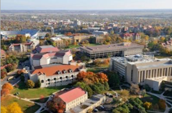Aerial view of Kansas University.